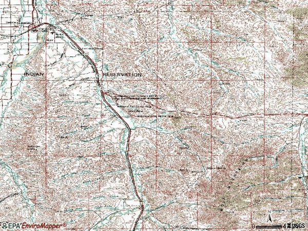 Zip code 59022 topographic map