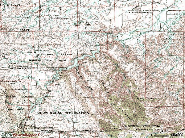 Zip code 59035 topographic map