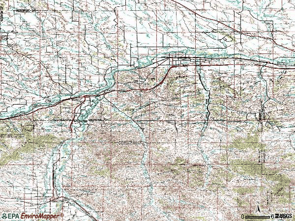 Zip code 59038 topographic map
