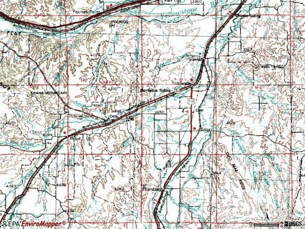 Zip code 59041 topographic map