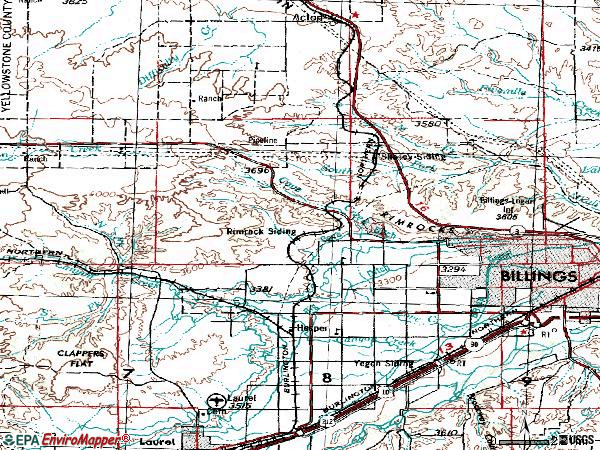 Zip code 59106 topographic map