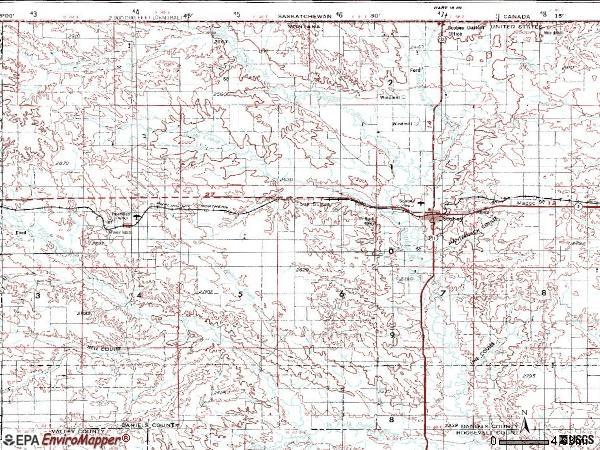 Zip code 59263 topographic map