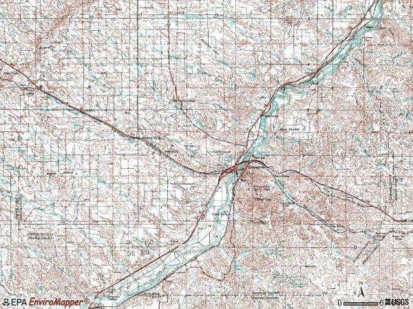 Zip code 59330 topographic map