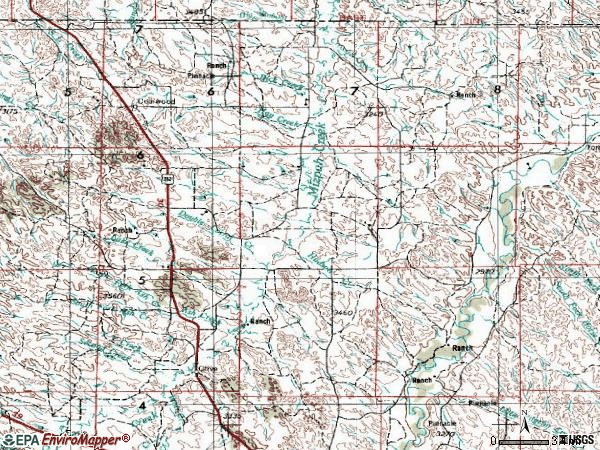 Zip code 59343 topographic map