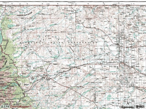 Zip code 59427 topographic map