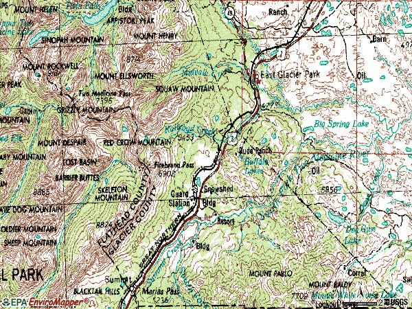 Zip code 59434 topographic map