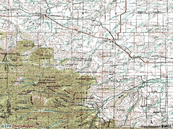 Zip code 59479 topographic map