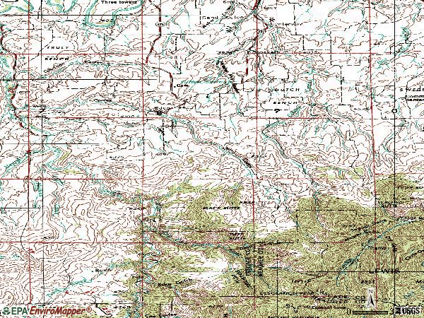 Zip code 59480 topographic map