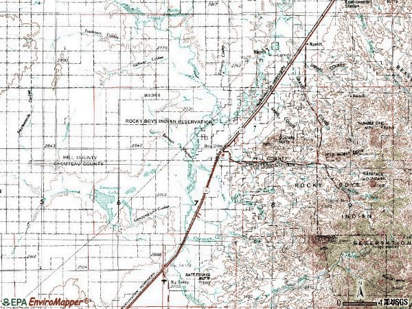 Zip code 59521 topographic map