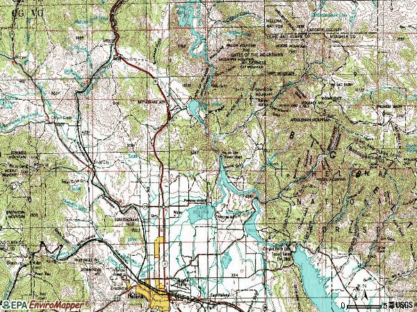 Zip code 59602 topographic map