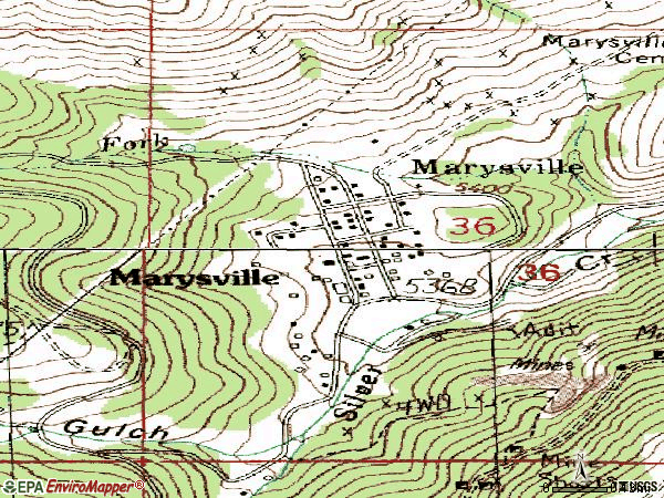 Zip code 59640 topographic map