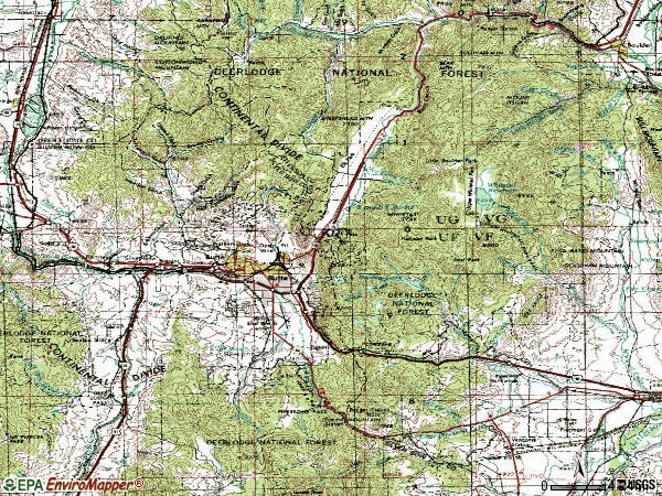 Zip code 59701 topographic map