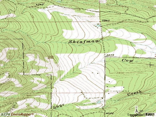 Zip code 59841 topographic map