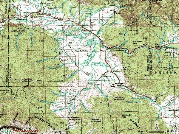 Zip code 59843 topographic map