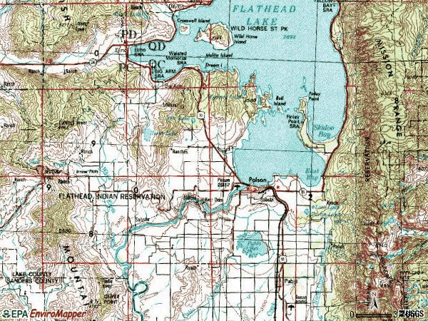 Zip code 59860 topographic map