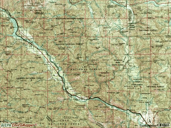 Zip code 59873 topographic map