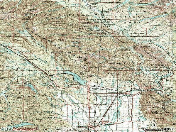 Zip code 59912 topographic map