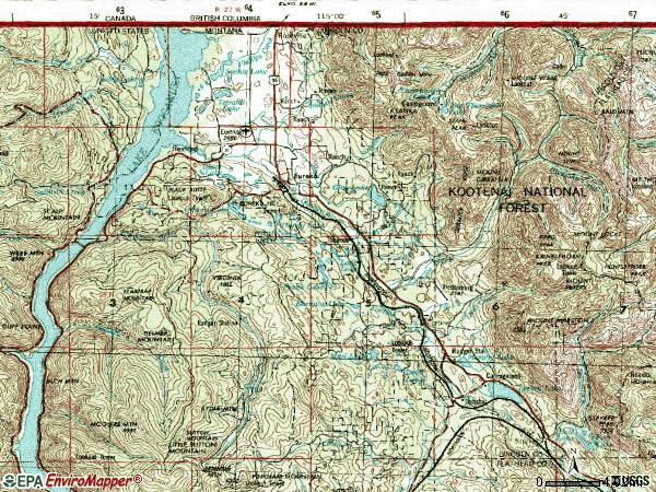 Zip code 59917 topographic map