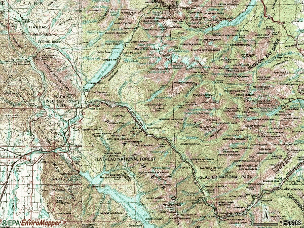 Zip code 59936 topographic map