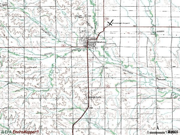 Zip code 68066 topographic map