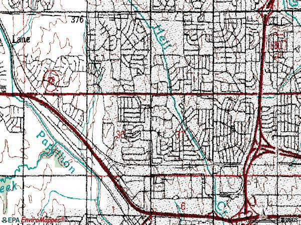 Zip code 68144 topographic map