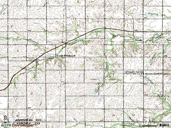 Zip code 68332 topographic map