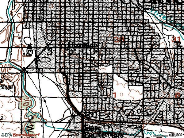 Zip code 68502 topographic map