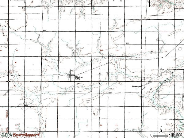 Zip code 68658 topographic map