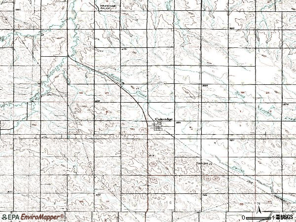 Zip code 68727 topographic map