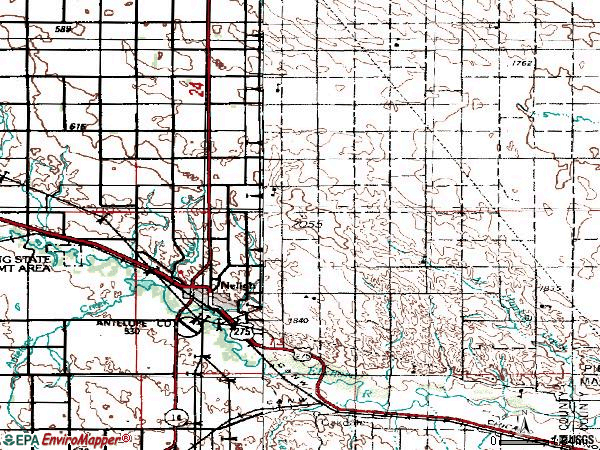 Zip code 68756 topographic map
