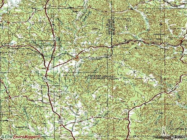 Zip code 35546 topographic map