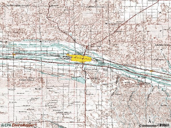 Zip code 69101 topographic map