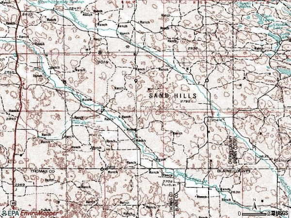 Zip code 69157 topographic map