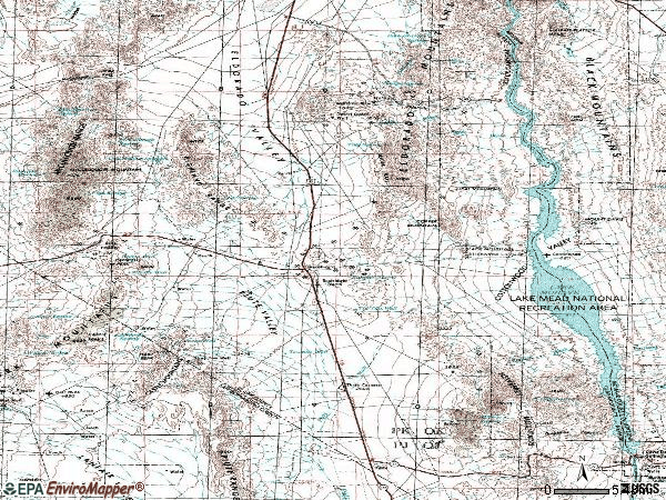 Zip code 89046 topographic map