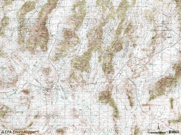 Zip code 89049 topographic map