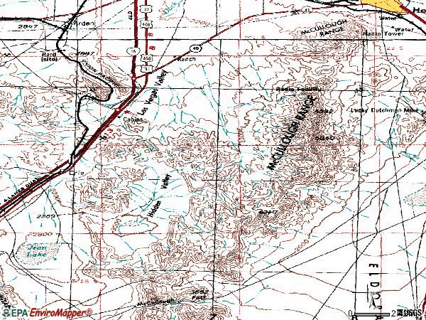 Zip code 89052 topographic map