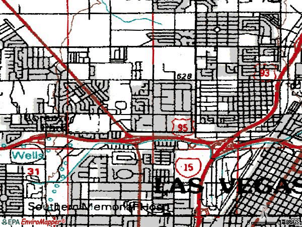 Zip code 89106 topographic map