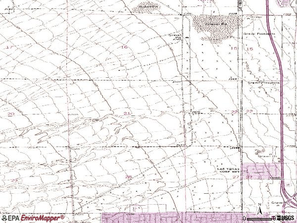 Zip code 89128 topographic map