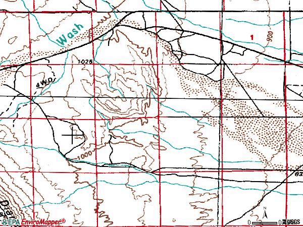 Zip code 89135 topographic map