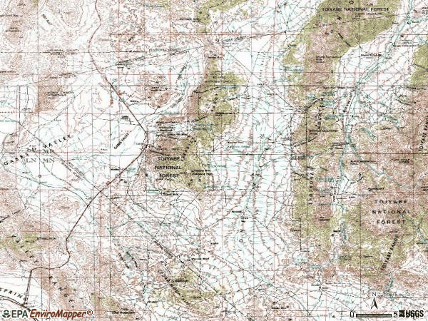 Zip code 89409 topographic map