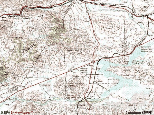 Zip code 89429 topographic map