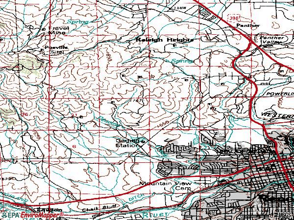 Zip code 89503 topographic map