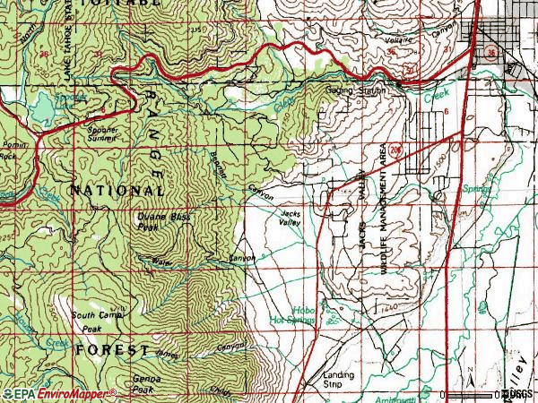 Zip code 89705 topographic map