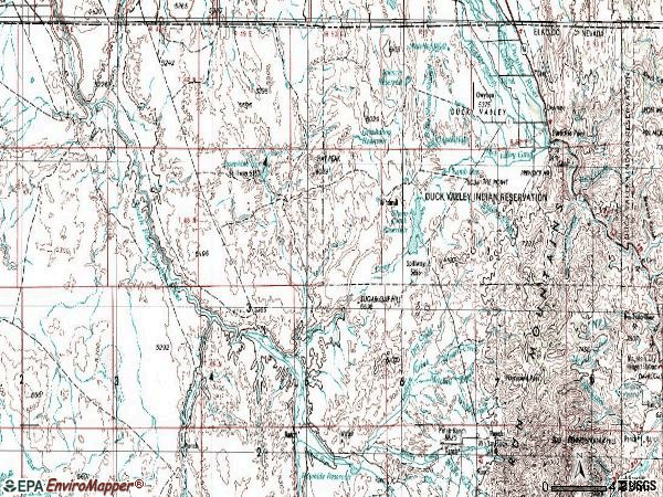 Zip code 89832 topographic map