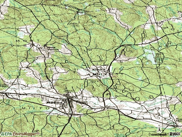 Zip code 03031 topographic map