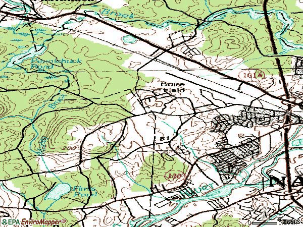 Zip code 03063 topographic map