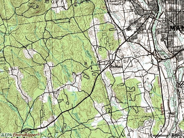 Zip code 03110 topographic map