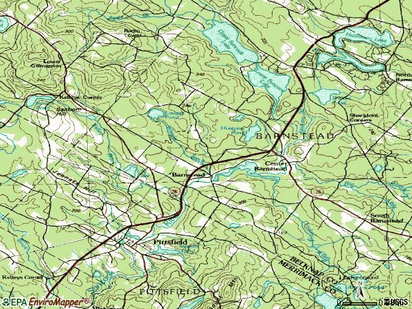 Zip code 03218 topographic map