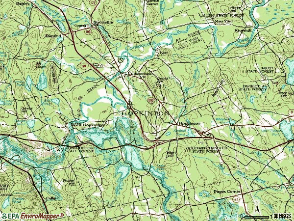 Zip code 03229 topographic map