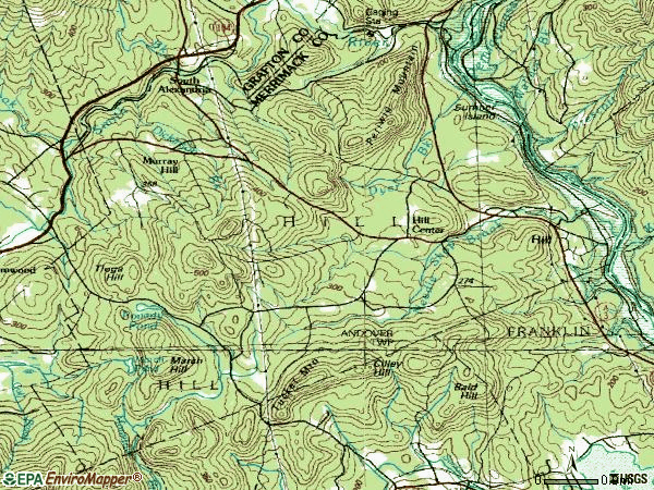 Zip code 03243 topographic map